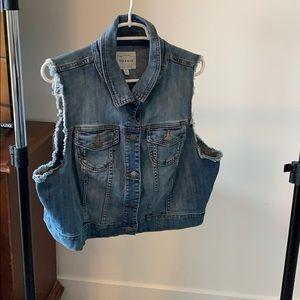 Torrid sleeveless denim jacket vest